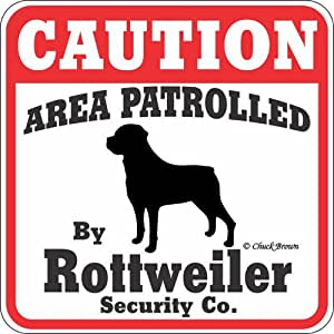 "Amazon.com : Dog Yard Sign ""Caution Area Patrolled By"