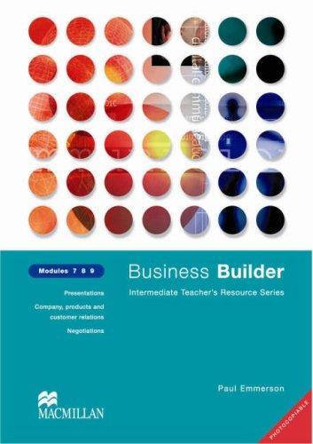 Business Builder: Module 7-9