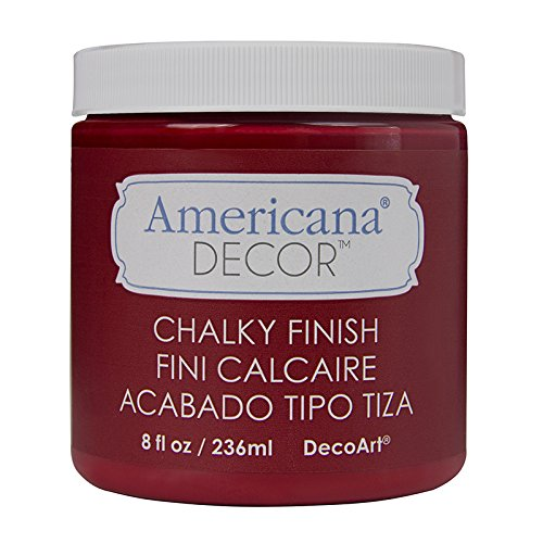 Deco Art Americana Chalky Finish Paint, 8-Ounce, Rouge