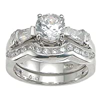 Cubic Zirconia CZ Round Cut Engagement Anniversary Ring Size 7