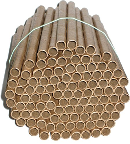 Mason Bee Nest Tubes - 100 Replacement Tubes