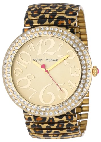 1a8de66f47a3 Betsey Johnson Women s BJ00214 02 Analog Leopard Printed Expansion Band  Watch