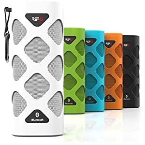 Bluetooth EXO Portable Wireless NFC Speaker, Powerful Sound with built-in Microphone by RIF6 TM (white)