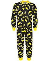 DC Comics Batman Official Gift Boys Kids Pyjama Onesie Black (RRP £14.99!)