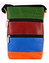 OX Ladies Sling Bags Multi Colour Leather Bag - B01DMF8OFW