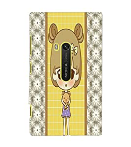 PrintDhaba Cute Doll D-4822 Back Case Cover for NOKIA LUMIA 920 (Multi-Coloured)