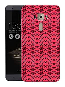 "Moustaches Pattern Printed Designer Mobile Back Cover For ""Asus Zenfone 3 Ze552kl"" (3D, Matte, Premium Quality Snap On Case)"
