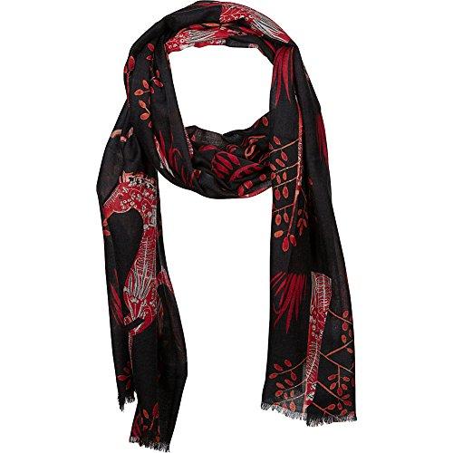 kinross-cashmere-folkloric-horse-print-scarf-black-multi