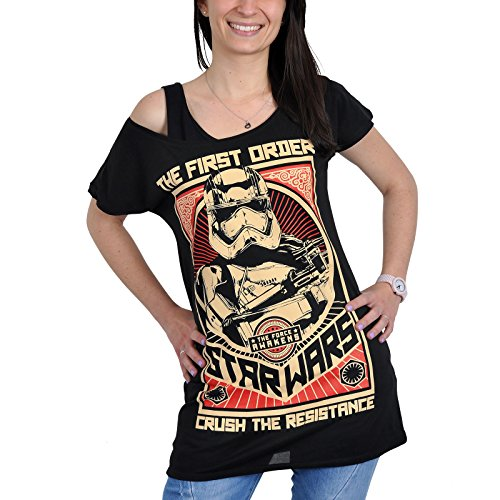 Star Wars - T-Shirt da donna con motivo Crush The Resistance - Nero - S