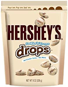 Hershey's Cookies 'n' Creme Drops, 8-Ounce Pouches (Pack of 4)