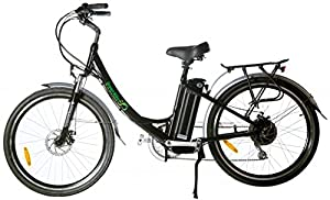 GreenBike USA Electric Motor Power Bicycle Lithium Battery Beach Cruiser