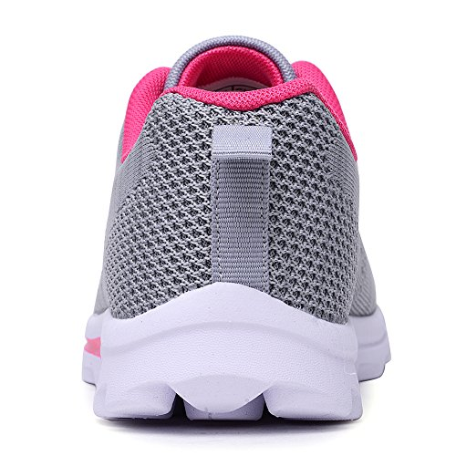 Odema Women Mesh Running Shoes Walking Sneakers, 7.5 B(M) US, Grey