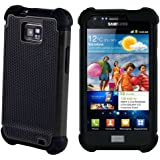 Black SHOCK PROOF SKIN CASE COVER FOR SAMSUNG GALAXY i9100 S2 + Free Screen Protector, Cloth and stylus Pen Exclusive by ihomegadget