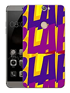"Blah Blah Retro PatternPrinted Designer Mobile Back Cover For ""Coolpad Max"" (3D, Matte, Premium Quality Snap On Case)"