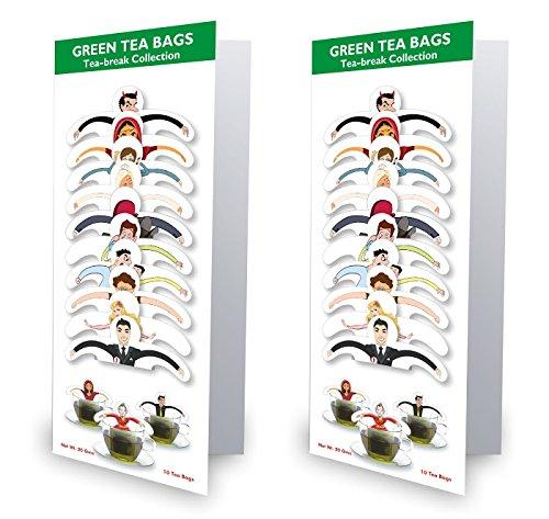 99 Tea Plain Tea Green Tea (10 Sachets, Pouch) - B01IZ6YVXW