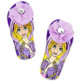 Disney Store Princess Rapunzel Swimsuit & Tangled Swimwear: Purple Flip-Flop Sandals/Pool Shoes Size 11/12 thumbnail