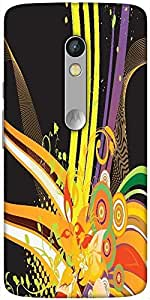 Snoogg Abstract Background Designer Protective Back Case Cover For Motorola X...