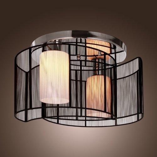 Alfred® plafoniera design moderno camera da letto 2 luci nero ...
