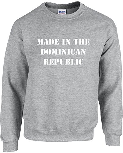 Adult Unisex Crewneck Size M (MADE IN THE DOMINICAN REPUBLIC) Sweatshirt Men's (Made In Dominican Republic compare prices)
