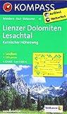 Lienzer Dolomiten - Lesachtal - Karnischer Höhenweg: Wanderkarte mit Aktiv Guide, alpinen Skirouten und Radrouten. GPS-genau. 1:50000 (KOMPASS-Wanderkarten)