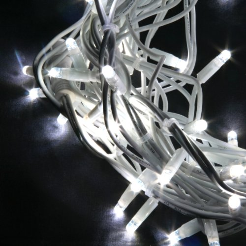 40er LED Lichterkette weiß, Außen, verknüpfbar, Typ C