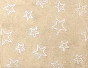 Aratextil. Alfombra Infantil 100% Algodón lavable en lavadora Colección Estrella Beige 120x160 cms marca Aratextil Hogar 26 S.L.