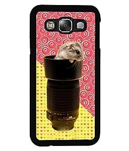 PrintVisa Metal Printed Crazy Rat Designer Back Case Cover for Samsung Galaxy E5-D5091