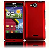 Red Hard Case Cover for LG Lucid 4G VS840