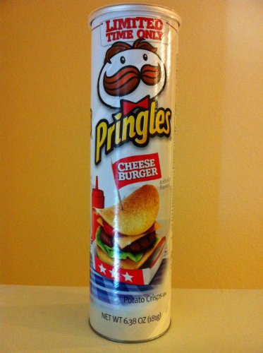 Pringles Potato Crisps Cheese Burger Cheeseburger Flavor, 6.38 Ounce (1 Tube) (Pringles Cheese Chips compare prices)
