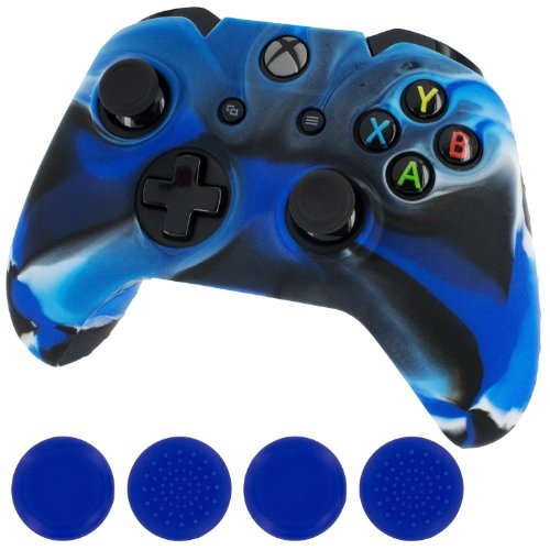 Leadingstar New Silicone Cover Case Skin Controller & grip stick caps for Xbox One(camo blue) (Xbox One Controller Stick Covers compare prices)