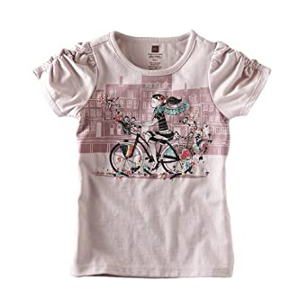 Tea Collection Baby-girls Infant Cycle Chic Tee, Orchid Haze, Medium
