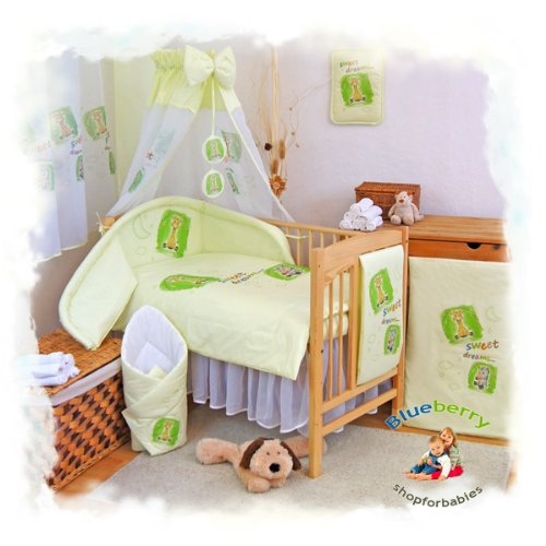 "Blueberry Shop Baby Cot Bed Bundle Duvet+Pillow Covers 35.5"" x 47"" (90Cmx120Cm) Green 1 - 1"