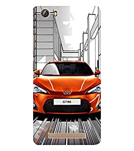 EPICCASE Amazing Orange Car Mobile Back Case Cover For Gionee Marathon M5 lite (Designer Case)