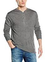 Guess Jersey Henley Damianwt (Gris)