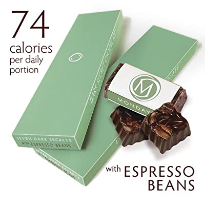DARK SECRET chocolate with Espresso Beans - Two 7 Day Boxes