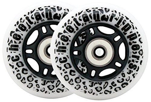 Buy WHITE CHEETAH Wheels for RIPSTICK ripstik wave board ABEC 9 76MM 89A OUTDOOR