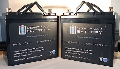 Ub12550 12V 55Ah Sla Agm Battery For Quickie, Design, P210, P300, P320 - 2 Pack