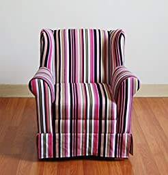 Michael Anthony Girl\'s Wingback Chair -Striped