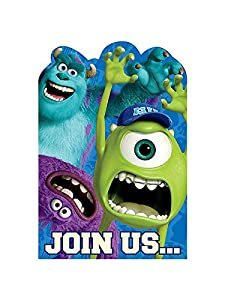 Monsters University Invitations (8) Invites Cards Birthday Party Supplies from Amscan