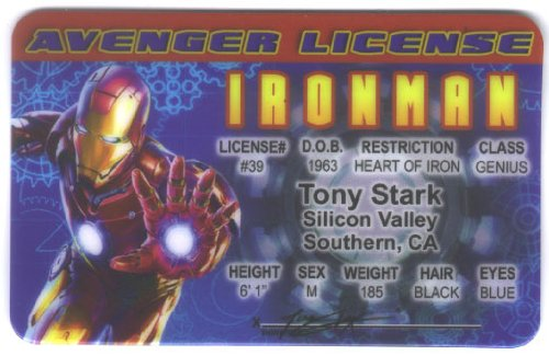 Ironman Fun Fake ID License - 1