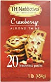 Thin Addictives Almond Thins Cookies, Cranberry, 16 Ounce