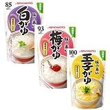 味の素 おかゆ3品(白がゆ、梅がゆ、玉子がゆ)各9個 合計27個セット
