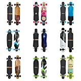 Apollo Longboard Special Edition Komplettboard mit High Speed ABEC Kugellagern inkl. Skate T-Tool, Drop Through Freeride Skaten Cruiser Boards Bild