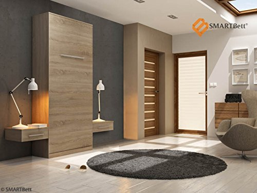 Armario vertical Smart cuna cama 90 cm vertical madera de roble Sonoma