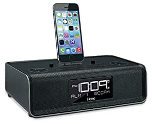 ihome idl43b dual charging stereo fm clock radio with. Black Bedroom Furniture Sets. Home Design Ideas