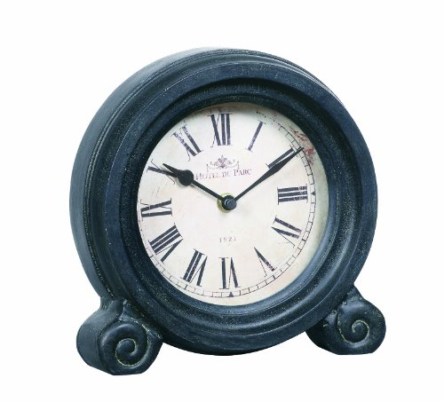 Creative Co-op Turn of The Century Style Black Mantle Clock