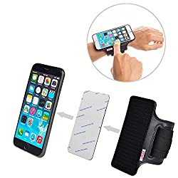 TFY Universal Open-Face Sport Armband for iPhone 5 - iPhone 6 - iPhone 6 Plus - Samsung Galaxy S4 (I9500) S5 (G900) - Samsung Galaxy Note 2 / 3 / 4 - Nexus 5 / 6 - Samsung Galaxy A5 / A7 - HTC One and more