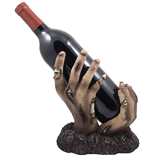 Zombie Rising up From the Grave Wine Bottle Holder