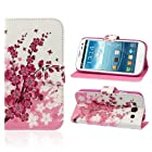 Suppion 1PC Flower Wallet Stand Flip Leather Case Cover For Samsung Galaxy S3 III i9300 (A)