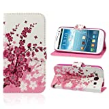 ZPS(TM) 1PC Flower Wallet Stand Flip Leather Case Cover For Samsung Galaxy S3 III i9300 (A)